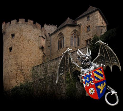 Le château de Couches, lieu de  légende du dragon d'ambre