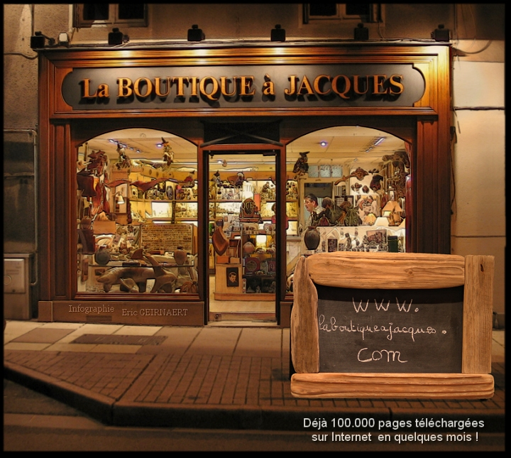 La boutique à Jacques en nocture