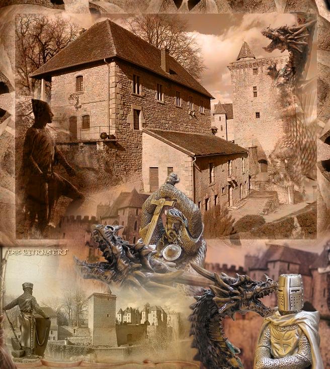 Le château médiéval de Couches  Publication Eric G.